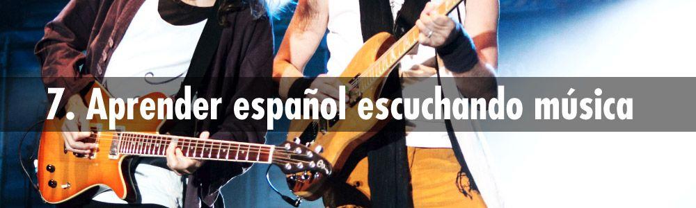 aprender español escuchando musica