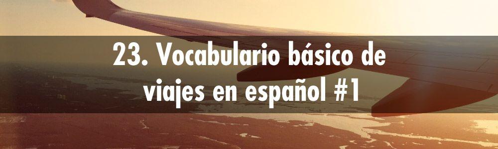 vocabulario viajes español