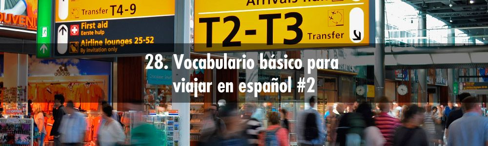 vocabulario viajar español
