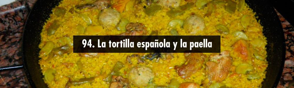 tortilla española y paella