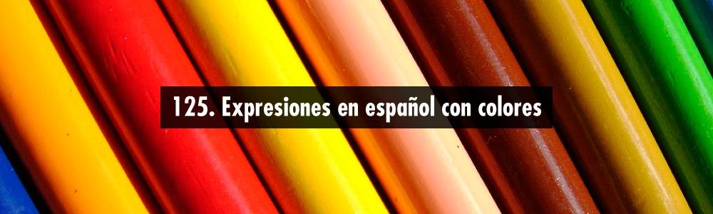 expresiones colores espanol