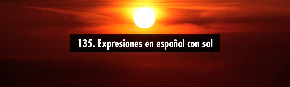 expresiones espanol sol